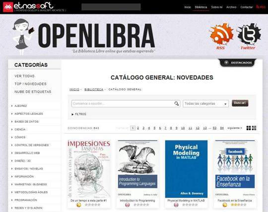 openlibra biblioteca OpenLibra, biblioteca libre online