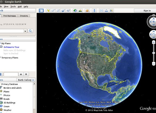 googleearth Instalando Google Earth en Ubuntu 12.10 (Quantal Quetzal)