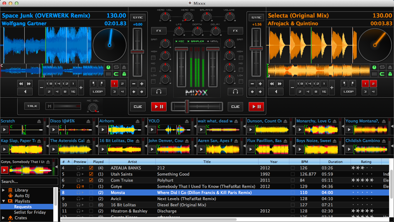 Mixxx 1.11.0 Deere SampleGrid Cropped Mixxx 1.11.0 Is Here! La alternativa libre a Traktor