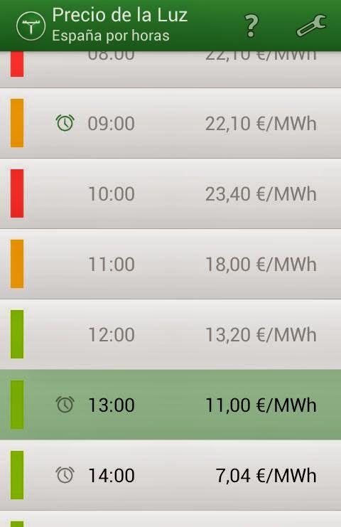 Precio de luz 3 aplicaciones android para ahorrar en tu factura de la luz.