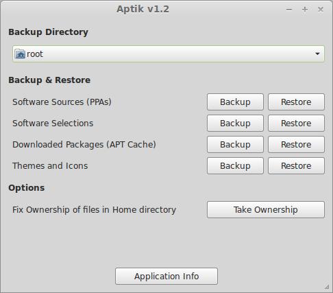 aptik Backup fácil de nuestros repositorios con Aptik