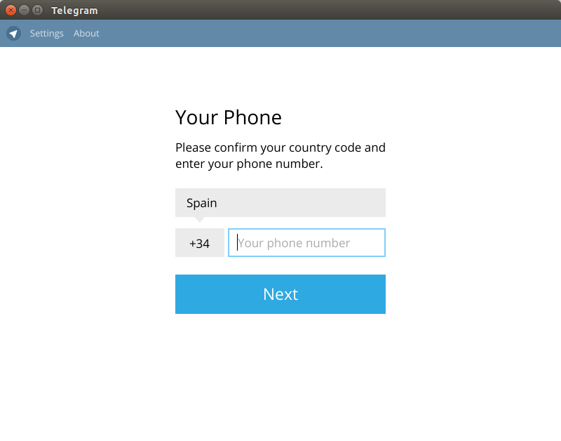 Telegram desktop: Cliente de Telegram para Linux