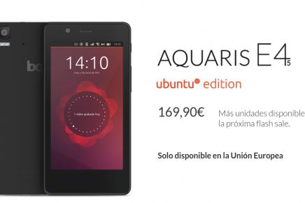 Nueva Flash Sale de bq. Tu oportunidad para ser de los primeros en conseguir un Ubuntu Phone