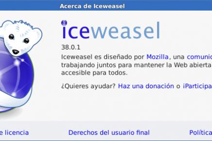 Instalar la ultima versión de Firefox/Iceweasel en Debian GNU/Linux