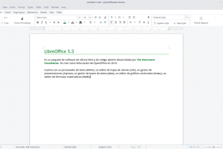 Cómo instalar LibreOffice 5.3 en Ubuntu en un solo comando de terminal