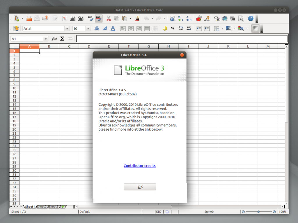 LibreOffice 3.4.5