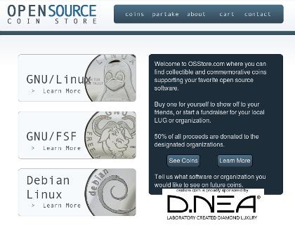 tienda de monedas open source