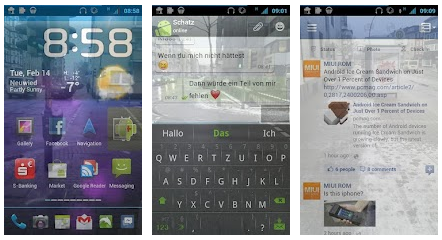 transparent screen android