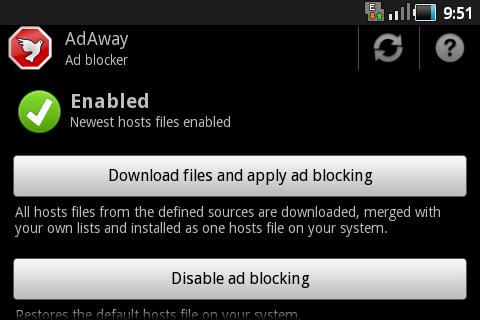 adaway, aplicacion control publicidad en Android