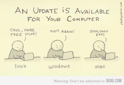 linux, actualizacion disponible
