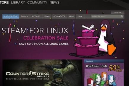 ¡Atención jugones! Cliente Steam ya disponible desde el Ubuntu Software Center con importantes descuentos