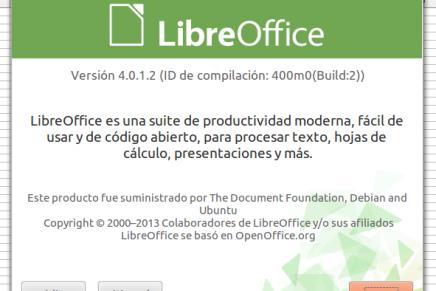 Instala LibreOffice 4.0 desde su repositorio oficial