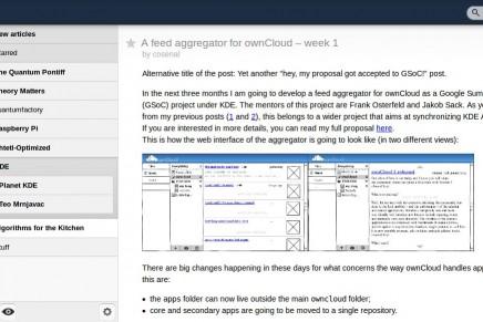 ¿Puede OwnCloud ser el sustituto perfecto de Google Reader?