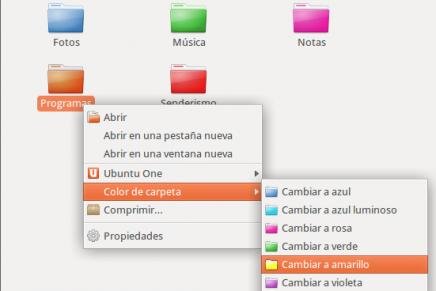 Definir carpetas con colores diferentes en Ubuntu