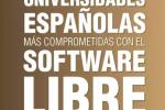 Infografía con las universidades españolas que más apoyan al software libre.
