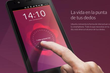 Así es Ubuntu Phone en modo escritorio