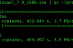 Usar pv para ver el proceso de comandos como dd o md5sum en la terminal