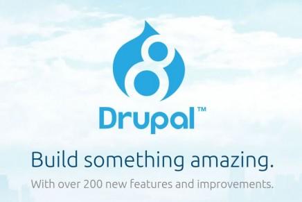 Ya está disponible Drupal 8