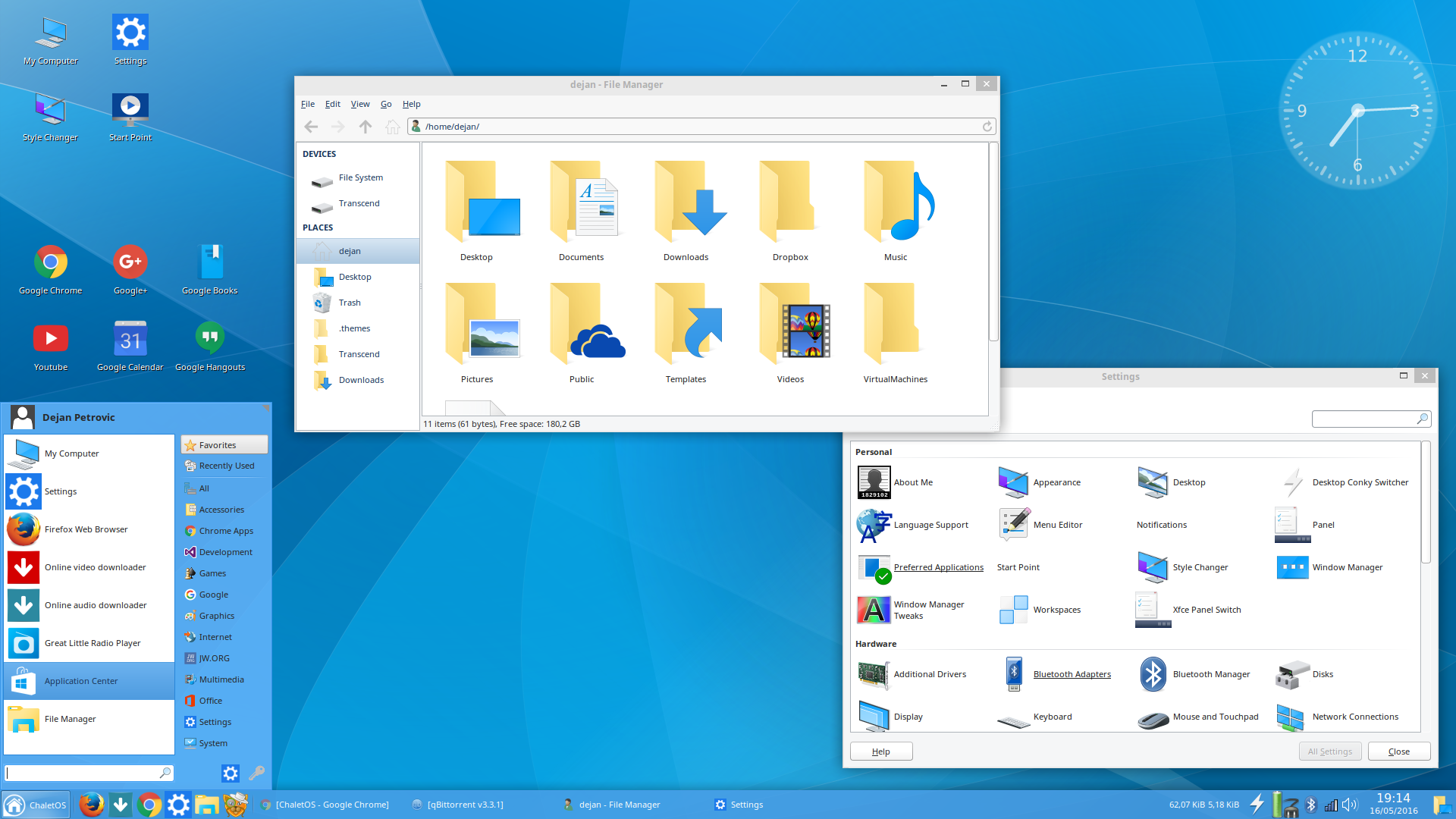 ChaletOS with Windows10 icons