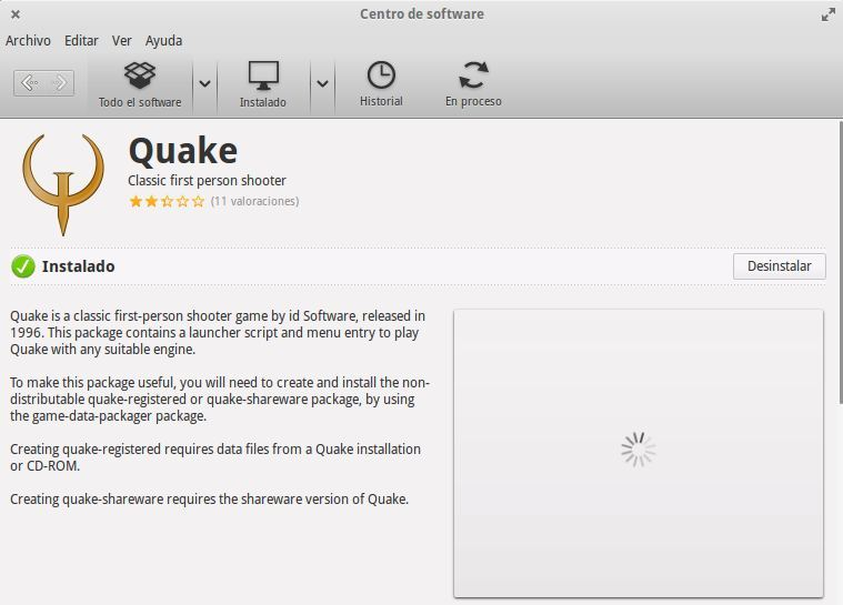 quake-centro de software-ubuntu