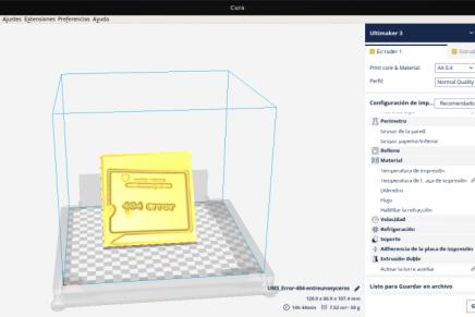 Cura 2.5, impresión 3D desde Ubuntu 16.04