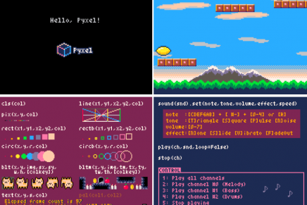 Pyxel, un pequeño gran motor para diseñar tus videojuegos retro