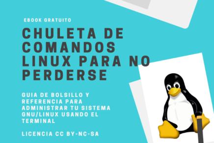 PDF: Chuleta de comandos Linux para no perderse
