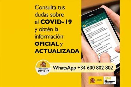 El Gobierno de España pone en marcha el Hispabot-Covid19