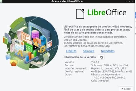 Cómo instalar LibreOffice 7.0 en Ubuntu 20.04 y 18.04