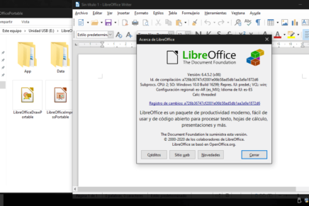 Llevar LibreOffice portable en una memoria USB