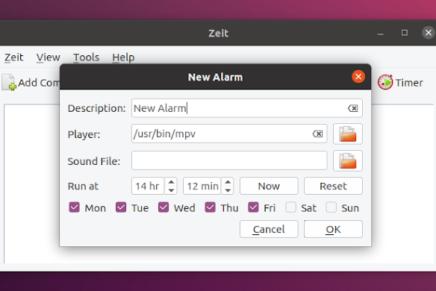 Programando la ejecución de comandos y scripts en Linux con Zeit