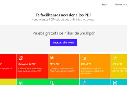 Smallpdf, un servicio online con todo lo necesario para trabajar con archivos PDF